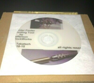 """Pivot Replacement Center Finding Tool for Clock Repair plus """"How To"""" DVD Video"""