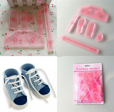Shoes Sugarcraft Cookie Fondant Cake Decorating Plunger Mold Cutter Mould new
