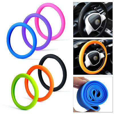 Hot Car Soft Silicone Skidproof Odorless Steering Wheel Cover Shell Anti-slip
