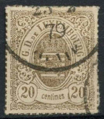 Luxembourg 1865-71 SG#29, 20c Grey-Brown Used #A90859