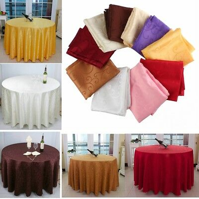 "40''/63"" Round Table Cover Tablecloth Pattern Wedding Banquet Party Polyester"
