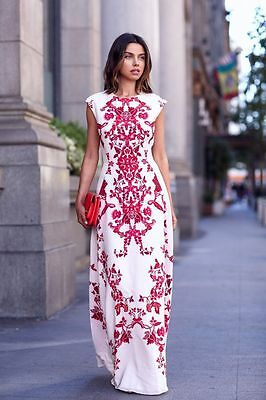 Summer Womens Boho Floral Print Long Maxi Prom Gown Cocktail Evening Party Dress