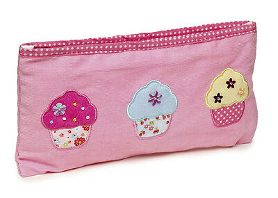 5 x Job Lot Girls Pink Cupcake Pencil Cases Gift Party Bag PC-8104 By Katz