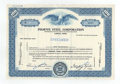 SPECIMEN - Phoenix Steel Corporation Stock Certificate
