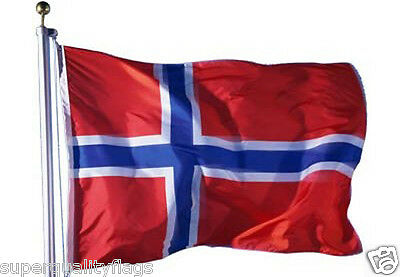 NORWAY NORWEGIAN FLAG WITH BRASS GROMMETS NEW 3x5 ft