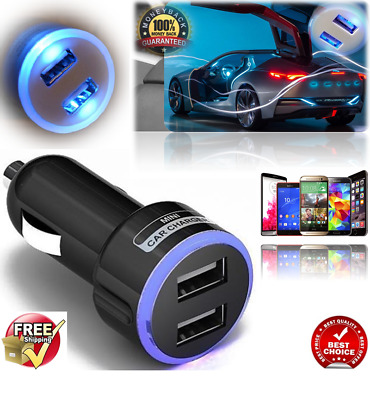 Universal Twin 2 Port Dual Usb Car Charger For Samsung Iphone Htc Lg Nokia Mobil