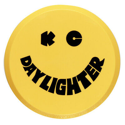 "KC Hilites Round Lamp/Light/Spot Light Cover - 6"" - Yellow Smiley - Hard Plastic"