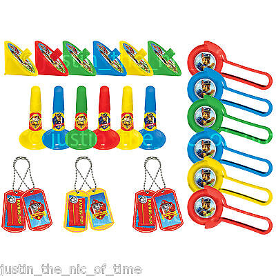 PAW PATROL Boys Girls Birthday Party Bag Fillers 24 Pce Favour Pack