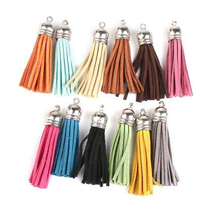12x Velvet Tassels Pendants Key Chain DIY Craft Sewing Curtains 6cm Colorful