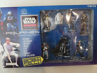 1995 Applause Star Wars Classic Collectors Series 7 Figures With Boba Fett NIB