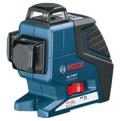 Bosch GLL 3-80P Compact Multi Line Self Levelling Laser Level + BM1 Wall Mount