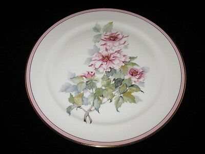 "Pickard Floral, Pink Flowers, Pink Trim, 11"" Collector Plate"