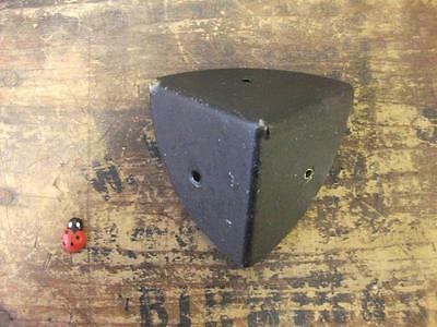 pair of steel corner protector chests - boxes - trunks  / black wax