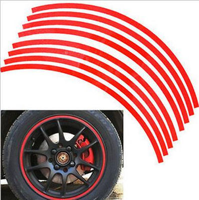 Reflective CAR/MOTORCYCLE 17 Inch Wheel Rim Pin Stripe Sticker 18 Strip/Set
