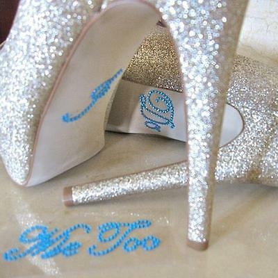 Wedding Decoration I DO and ME TOO Clear Rhinestones Shoe Stickers Party Gifts