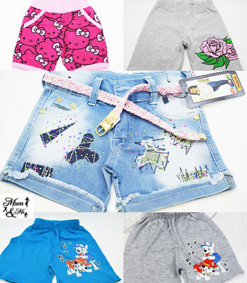 Girls Boys Kids Minnie Frozen Spring Summer Layered Trousers Shorts