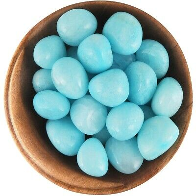 1 BLUE ARAGONITE - Ethically Sourced, 1 Inch Tumbled Stone