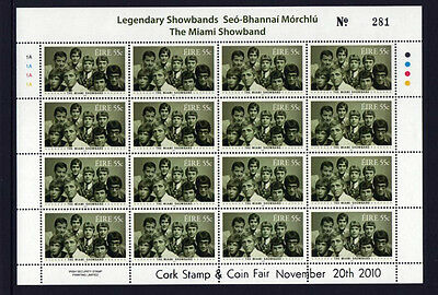 2010   Cork   Exhibition  Music  The  Miami  Showband  Sheetlet  Scarce