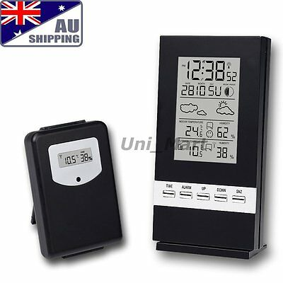 AU Wireless Weather Station Indoor Outdoor Thermometer Humidity °C °F Home Lab