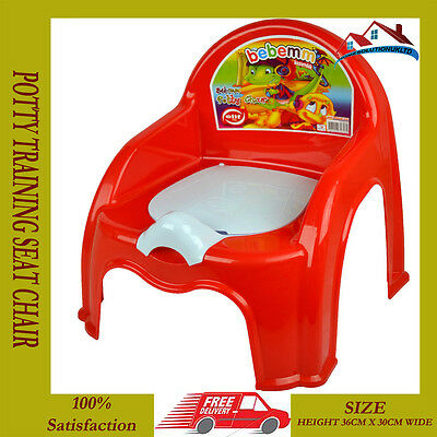 New Red Child Toilet Seat Potty Training Seat Chair Removable Lid Kids Baby