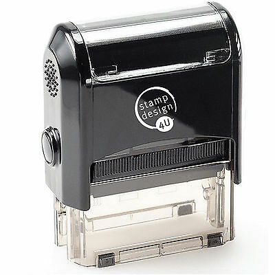 Personalised Business Address Self inking Rubber Stamper Garage Service etc