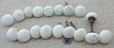 17 White Porcelain Antique  Door knobs Standard Size Knobs Only