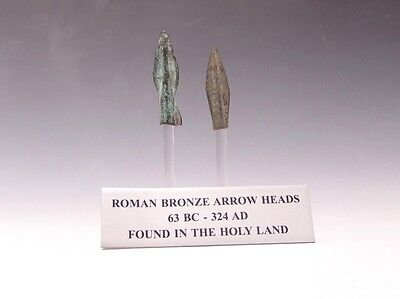 A Set Of Two Roman Bronze Arrowheads