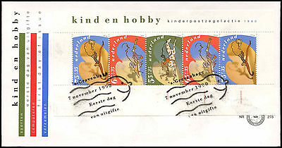 Netherlands 1990 Child Welfare Hobbies M/S FDC First Day Cover #C27971
