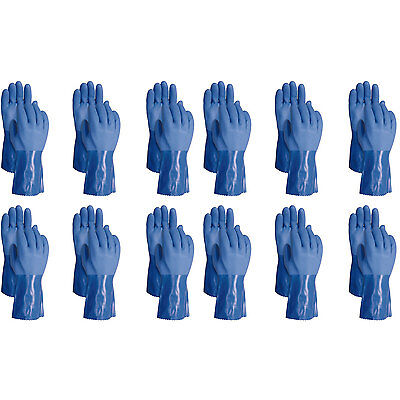 ATLAS 660 Vinylove Triple Dipped Medium Textured PVC Work Gloves, 12-Pairs