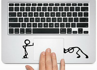 Pushing & Standing Silhouette f Macbook Trackpad laptop Car window Decal Sticker