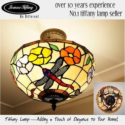 2015 new arrivals@ Dragonfly Museum Quality classical Tiffany Ceiling Lamp