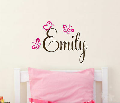 Wall Stickers custom baby name butterfly new vinyl decal decor Nursery kids
