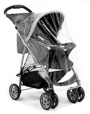 New 4Baby Small Universal Pushchair Raincover Baby Buggy Stroller Rain Cover