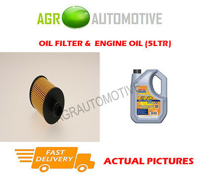 Diesel Oil Filter + Ll 5W30 Engine Oil For Vauxhall Corsa 1.3 95 Bhp 2006-