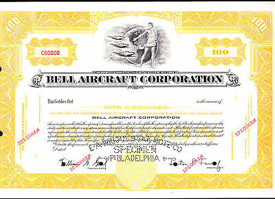 Bell Aircraft Corporation - Specimen