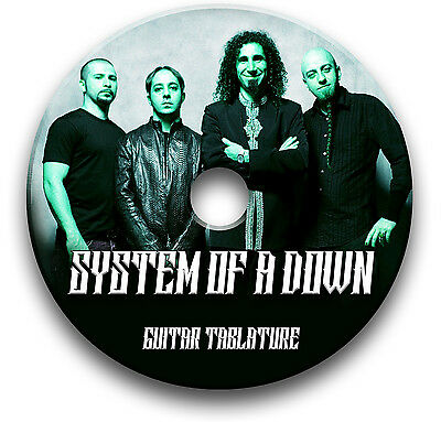 System Of A Down Soad Rock Metal Guitar Tabs Tablature Song Book Software Cd