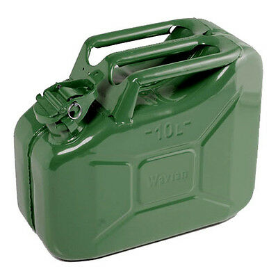 High Quality Metal Jerry Can for Petrol or Diesel Fuel Green 10L