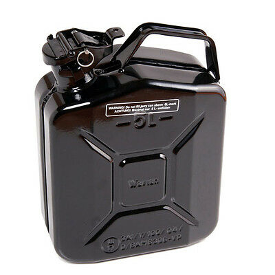 High Quality Metal Jerry Can for Petrol or Diesel Fuel Black 5L