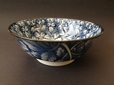 "2 PCS. 7.5"" Japanese Chinese Rice Soup Noodle Bowl Blue Floral, Made in Japan"