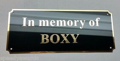 "Engraved Brass Plate 2.75"" x 6.5"" Picture Frame Dedication Art Label Name Tag"