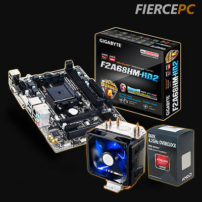 Overclocked Motherboard Bundle AMD Quadcore 860K 4.2GHz GA-F2A68HM-HD2 - 53444
