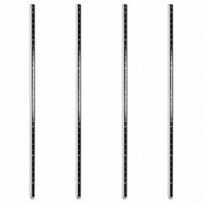 Chrome & Epoxy &  Stainless Steel Post Sets for Wire Shelving NSF - (4 Posts)