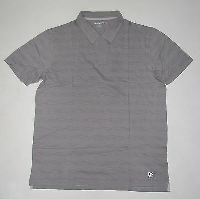 NWT Mens DKNY Short Sleeve Gray No Buttons Polo Shirt Size L Large