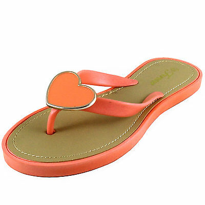 3f4e520ee New women s shoes open toe t strap flip flop sandals summer casual coral  heart