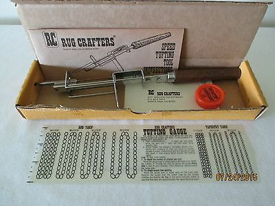 Vintage Rug Crafters Speed Tufting Tool With Instructions Euc Free Ship