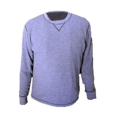 Hot Chillys Mens Base Layer Waffle Weave Crew Top Relaxed Fit Thermal 5047 Grey