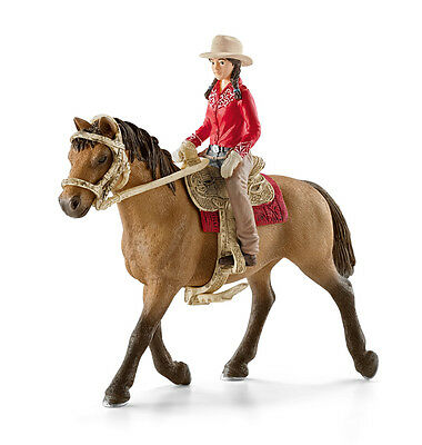 FREE SHIPPING | Schleich 42112 Wester Rider w/ Horse and Tack - New in Package