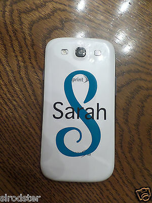 Monogram Personalized Custom Decal for Cell Phones  IPHONES, Galaxy, etc