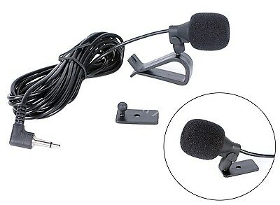 Car Stereo External Microphone 3.5mm Bluetooth Radio Handsfree HeadUnits Mic New