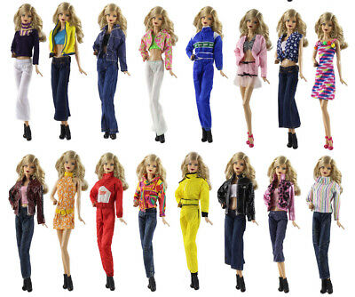 10 Set Different Style Fashion Handmade Clothes/Outfit+10 Shoes For 11.5in.Doll